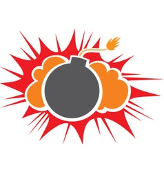 Bomb Icon vector image vector image