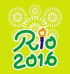 Brazil 2016 Rio de Janeiro Olympic Games banner vector