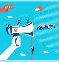 business promotion online concept vector image
