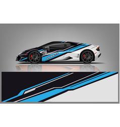 car decal wrap design vector image