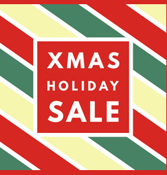 christmas sale creative minimal winter greeting vector image