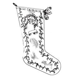 Christmas stocking vintage vector