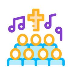 Church choir singing song concert icon vector