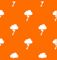 Cloud with lightning pattern seamless vector