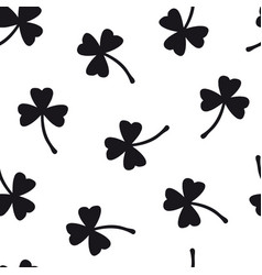 clover seamless pattern with three leaf vector image