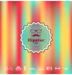 Colorful Hipster blurred background vector image
