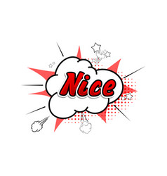 Comic collection word nice 3d colored sound chat vector