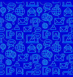 communication seamless pattern vector image