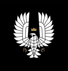 Condor bird prey king crown logo icon vector