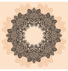 Contour MandalaOrnament round lace with Mandala vector