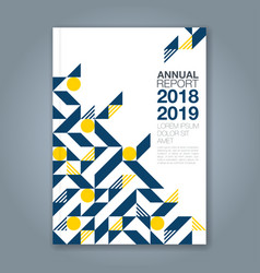 cover annual report 1083 vector image
