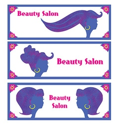 Creative hair salon banners vector image