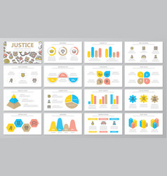 crime law police and justice presentation vector image