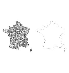Dotted contour map of france vector