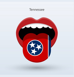 Electoral vote of tennessee abstract mouth vector