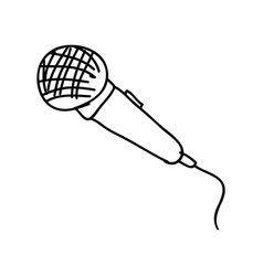 electronic microphone instrument icon vector image