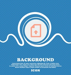 Export Upload file sign icon Blue and white vector