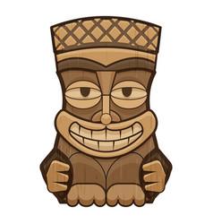 Face tiki idol icon cartoon style vector