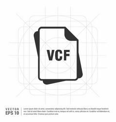 File format icon vector