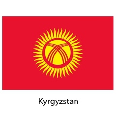 Flag of the country kyrgystan vector image