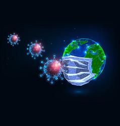 futuristic covid-19 coronavirus global pandemic vector image