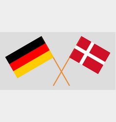 Germany and denmark flags vector