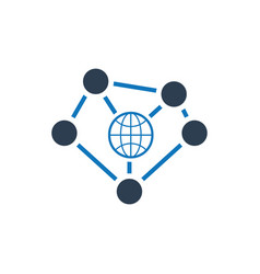Global connectivity icon vector