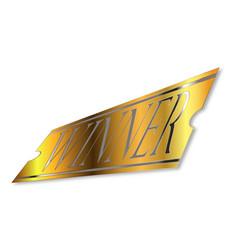 Golden winner ticke vector