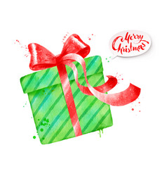 green color gift vector image