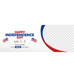 Happy usa independence day sale banner vector