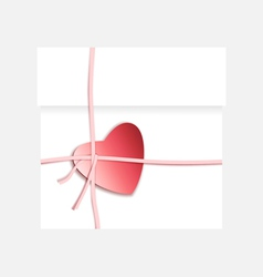Heart present box vector image vector image