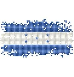 Honduras grunge tile flag vector image