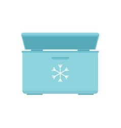 Ice cream refrigerator icon flat style vector