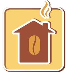 icon with coffee house vector image