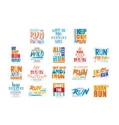 inspirational and motivational slogans set design vector image
