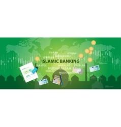 islamic banking sharia islam economy finance money vector image