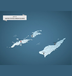 isometric 3d virgin islands map concept vector image