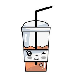 Kawaii cute funny smoothie drink vector