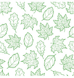 leaves seamless outline green light vector image