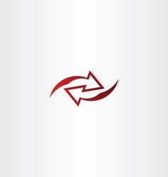 Left right red arrow logo icon vector