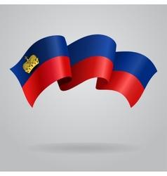Liechtenstein waving Flag vector image