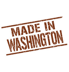 made in washington stamp vector image