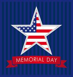 Memorial day usa star vector