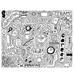 modern monochrome doodle poster for business vector image