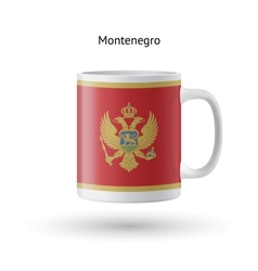 Montenegro flag souvenir mug on white background vector image