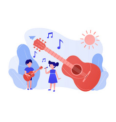 Musical camp concept vector