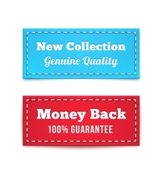 New Collection and Money Back Tag Badges vector image