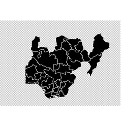 nigeria map - high detailed black map with vector image