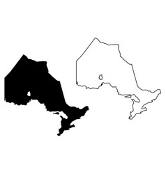 Ontario province and territory canada black vector