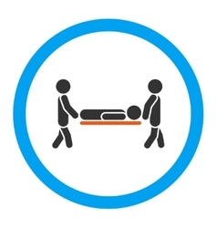 Patient Stretcher Rounded Icon vector image